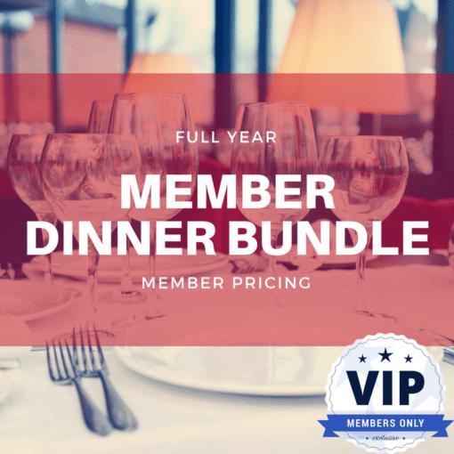 Full Year Member Dinner Bundle