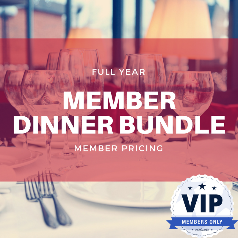 Full Year Member Dinner Bundle