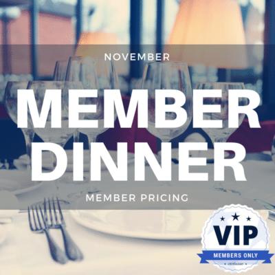 November Member Dinner