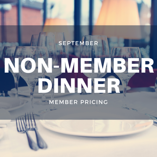 September Non-Member Dinner
