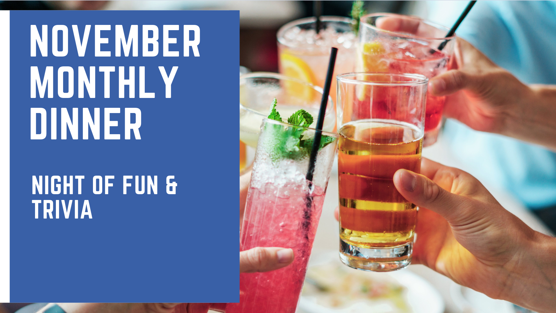 November Monthly Dinner | Night of Fun & Trivia
